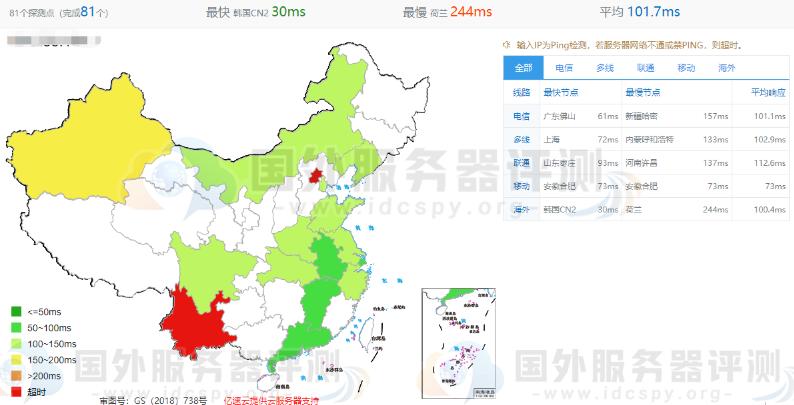 RAKsmart日本服务器大陆优化与精品网线路速度对比评测 (https://www.idcspy.org/) 日本CN2服务器 第5张